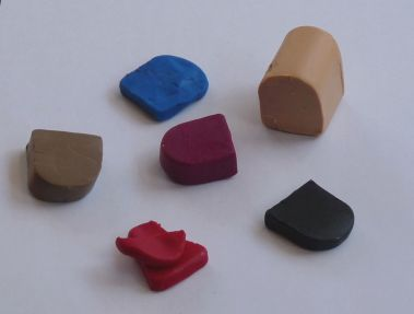 Lumps of modelling clay