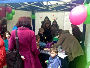 Our stall at the Oxfordshire Science Festival 2013 launch event in Oxford City Centre.