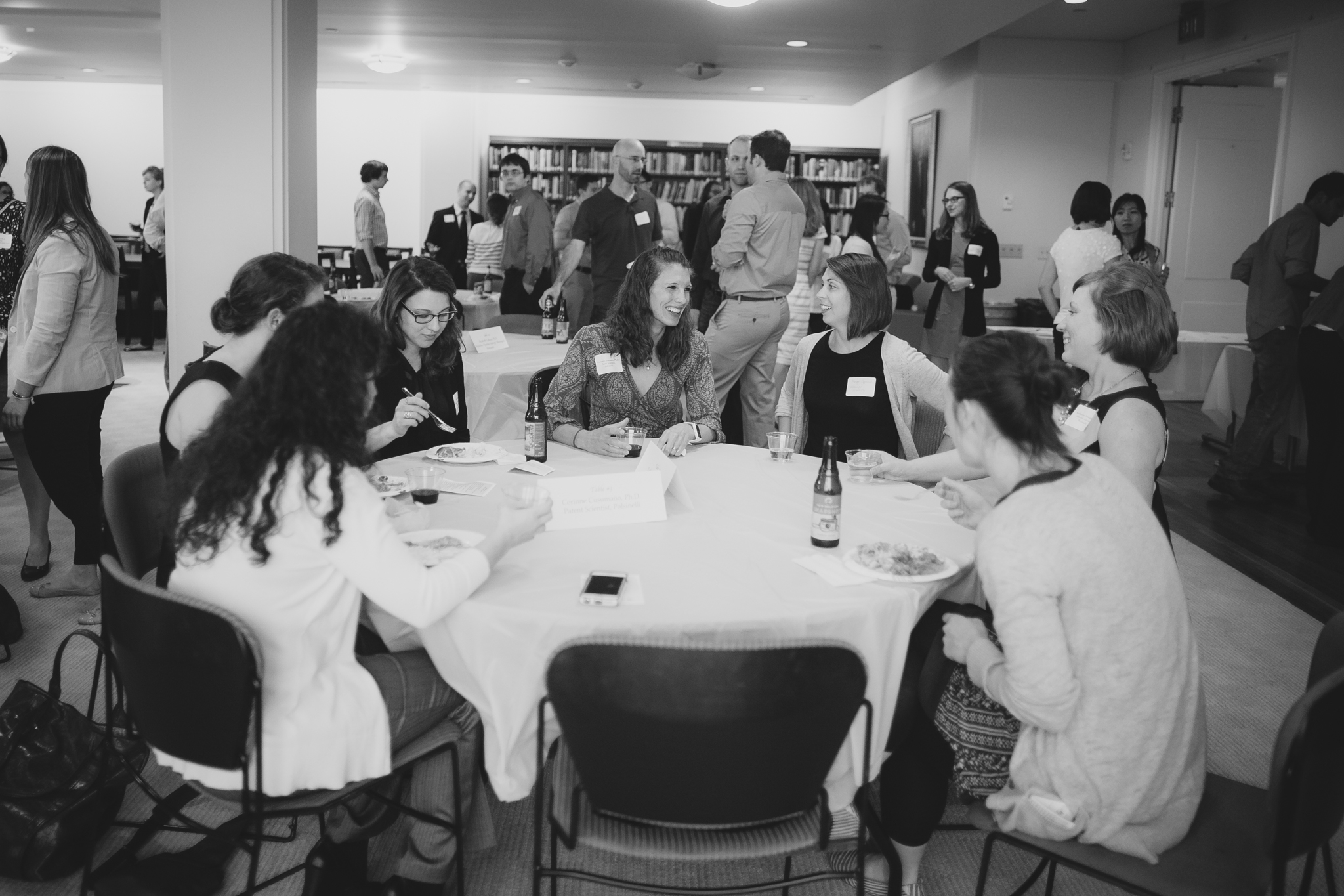 Students and invited guests mingle at the Early Career Transitions Symposium at Washington University in St. Louis the evening of June 3, 2015.