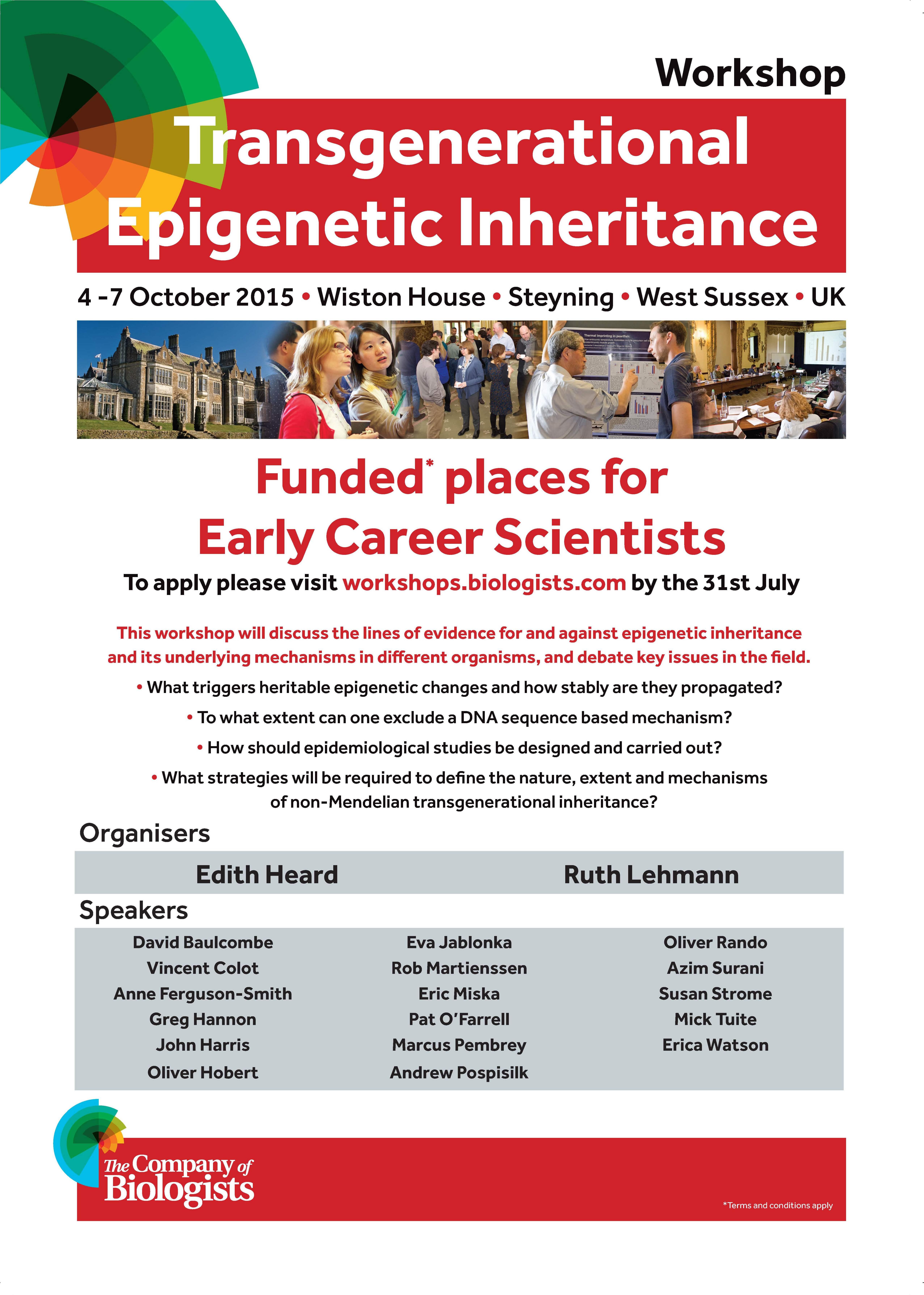 Transgenerational epigenetics workshop new poster