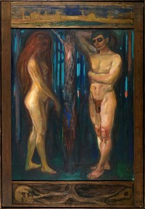 "Caption: The painting ""Metabolism"" by Edvard Munch depicts Adam and Eve, a metaphor for the initiators of human's development. https://commons.wikimedia.org"