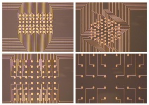 Closed-up image of microelectrode array