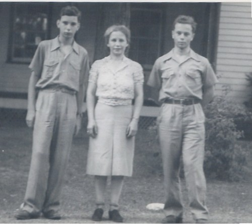 Margit Freund and her sons George (on the left) and Ervin (on the right) a few years after their immigration. (Photo courtesy of Cory Streisinger).
