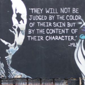 Martin Luther King graffiti