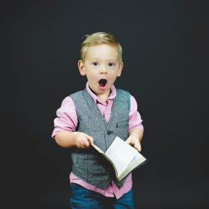 Shocked small boy