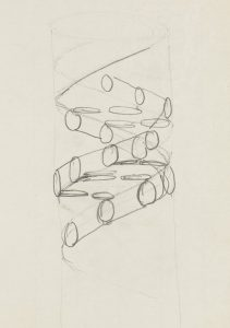 Francis Crick's Pencil sketch of DNA