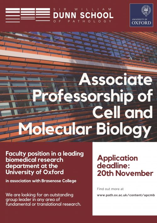 Poster advertising Associate Professorship position