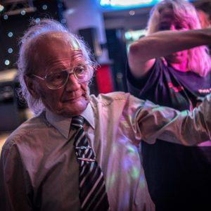 An old man dancing